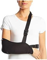Cabestrillo de ArmoLine transpirable para inmovilizar el brazo o la muñeca, para adultos, color negro (M)