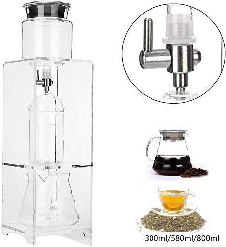 Dripper Pot Ice Cold Brew Koffiezetapparaat, 350ml / 580Ml / 800ml herbruikbare Glass Filter Gereedschap Water Drip Koffiezetapparaat, 360ml XIUYU (Color : 580ml)