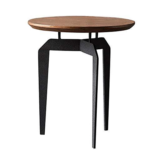 Carl Artbay Home & Selected Furniture/industriële stijl Ronde bijzettafel woonkamer-sofa bijzettafel mini hoektafel balkon ijzer-kunstkoffietafel, 19,6 inch, 21,6 inch