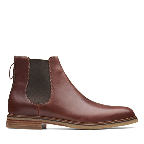 Clarks Herren Clarkdale Gobi Chelsea Boots, Braun (Mahogany Leather), 42 EU
