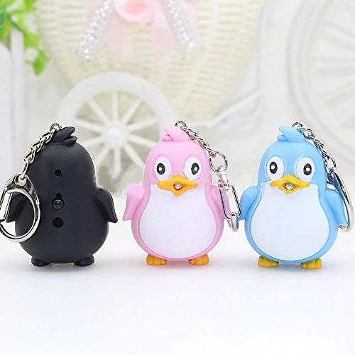 TOOGOO Netter Pinguin Schlüsselanh?nger LED Taschenlampe Mit Sound Schlüsselbund Weihnachten Party Favors Tasche Füllstoffe Geschenke Spa? Spielzeug Für Kinder & Erwachsene (Schwarz)