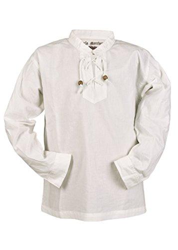 Kinder Mittelalter-Hemd Colin Kinderkleidung Ritterhemd LARP Mittelalter Fasching (Natur/164)