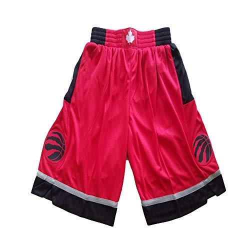 FGRGH Pantalones Cortos de Baloncesto de Ráptòrs para Hombres, Pantalones Cortos de Baloncesto atlético para Hombre Malla de Malla, Rojo M
