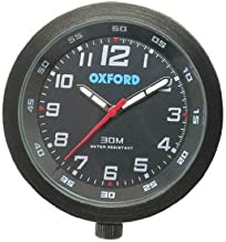 Oxford OF218B Black Analogue Clock for Outdoor Vehicles