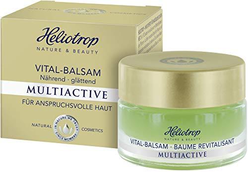 HELIOTROP Naturkosmetik MULTIACTIVE Vital-Balsam, Reguliert die sensible Hydro-Lipid-Balance, Schenkt ein spürbar gefestigtes, geglättetes & vitales Hautbild, Vegan, 30ml