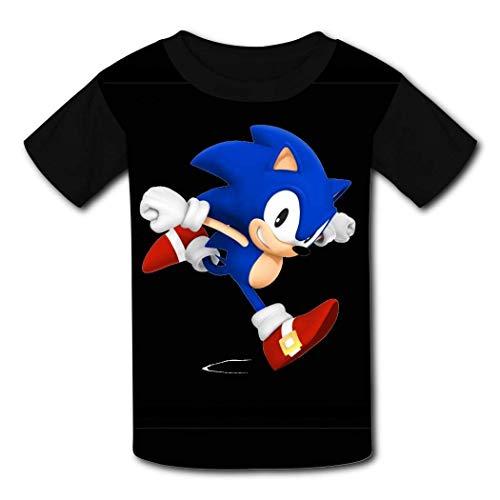 HGdggvd Sonic Unisex T-Shirts Jugend T-Shirt 3D-Druck T-Shirts Jungen Mädchen Kinder Team Kleidung Crew Neck Tops XL