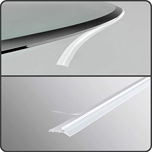 bijon® 4-Fach Staubschutz-Dichtlippe für Kaminplatten | Staubschutz Dichtlippe | Schmutzlippe Glasbodenplatte | Länge 4,6m