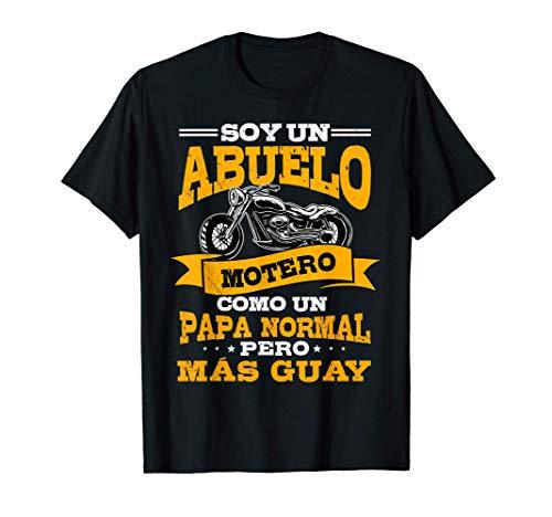 Hombre Soy Un Abuelo Motero Como Un Abuelo Normal Pero Màs Guay Camiseta