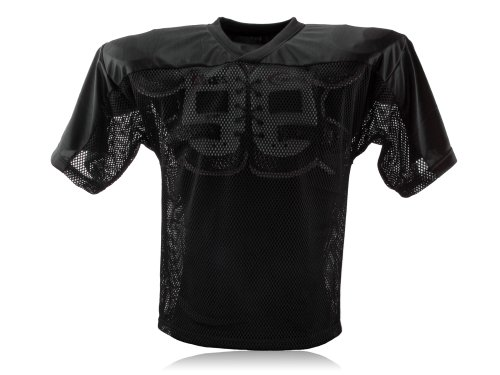 Full Force Erwachsene Trainingstrikot Einfaches American Football, Schwarz, 3XL/4XL