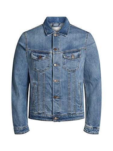 JACK & JONES NOS Herren Jeansjacke Jjialvin Jjjacket Sa 002 Noos, Blau (Blue Denim), Medium (Herstellergröße: M)