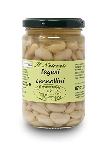 Carioni Food & Health Alubia Blanca ecológica, cocida al Natural - 300 gr (Paquete de 6 Piezas)