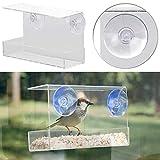 Royal Gardineer Futterhäuschen: Vogel-Futterhaus aus Acryl mit Saugnapf-Befestigung fürs Fenster (Vogelfutterstation)