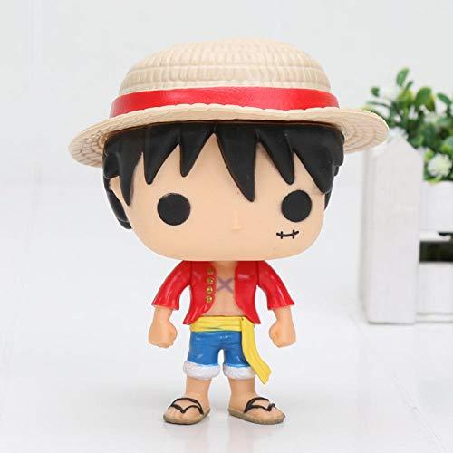 Brandless Anime Funko One Piece Zoro Luffy Muñeca Decoración Modelo Juguete Decoración Caja de PVC Altura: 10 cm