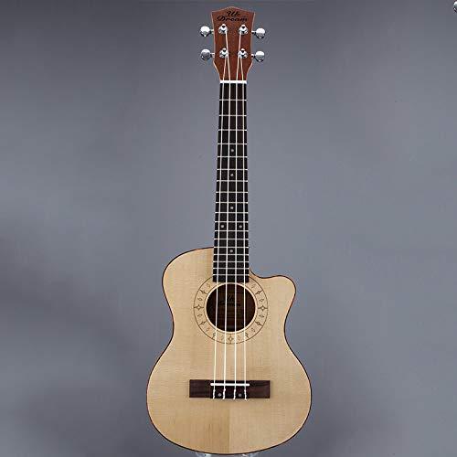 LOIKHGV Kleine Ukulele Holzgitarre Musikinstrumente 26 Zoll Hawaiianische Gitarre 20 Bünde Chipping Guitars Ukulele, 26 Zoll