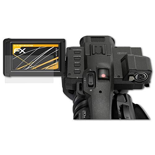 atFoliX Panzerfolie kompatibel mit Panasonic HC-X1000 Schutzfolie, entspiegelnde und stoßdämpfende FX Folie (3X)