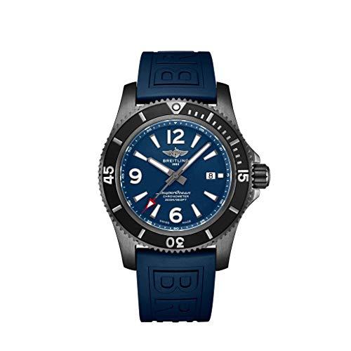 Breitling Superocean, Resistente al Agua, 2000 Metros, Acero Negro, Esfera Azul, Reloj de 46 mm