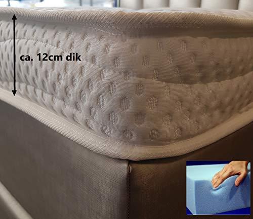 Tencel Topper 180x210 XXL Koudschuim HR55 12 cm Dik