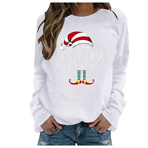 Mxstnk Damen Weihnachten Pullover Sweater Sweatshirt Pullover Casual Kapuzenpullover...