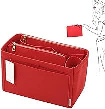 Purse Organizer, Felt Bag Organizer Purse Organizer Insert For Speedy, Neverfull, Graceful, Neverfull,Tote, Handbag,Shaper (Slender Large, Red)