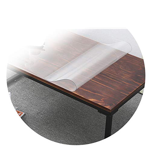 GFSD Mantel Casero del PVC, 1.0/1.5/2.0/3.0 Mm de Espesor Fácil de Limpiar Resistente Al Calor Impermeable Transparente Estera para Silla de Oficina (Color : 3.0mm, Size : 120x180cm)