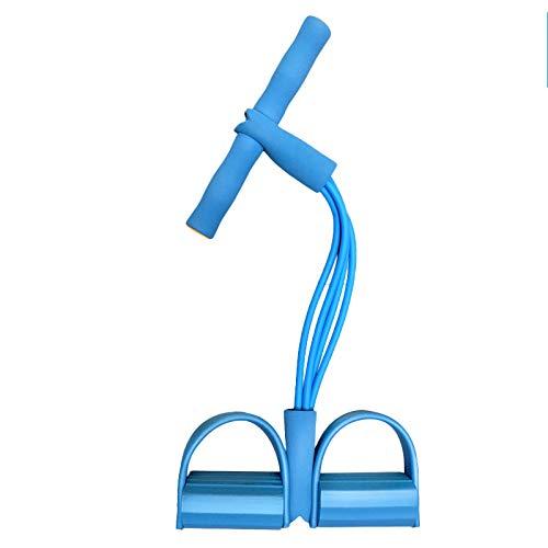 Family History Supine Sit Up Rally, Hausfrau Verlieren Gewicht Schlankheits Bewegung Fitness Geräte Bauch Training Elastischen Seil Bein Trainer,Blue