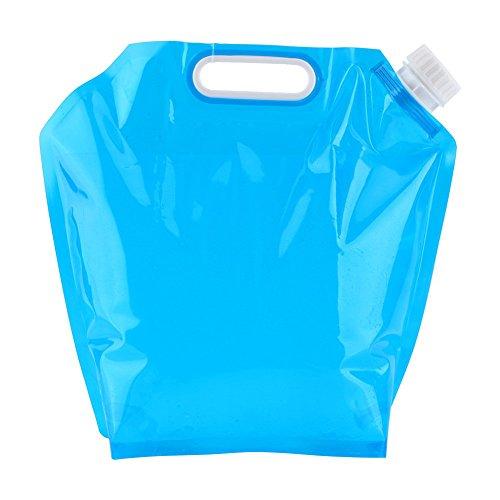 FLYING_WE 10L Contenedor Plegable de Agua Potable, Bolsa de Agua Plegable Portador de Agua para Acampar Senderismo Barbacoa de Picnic.(Azul)