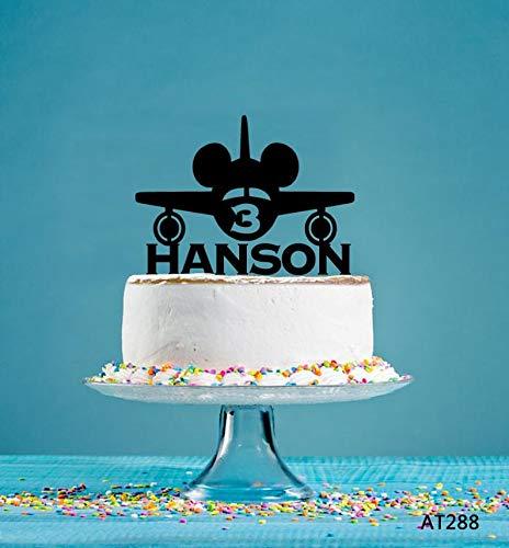 Plane Cake Topper, Gepersonaliseerde Cake Topper, Verjaardag Cake Topper, Party Decor Topper, Acryl Cake Topper, Zeilboot Party Decor AT288