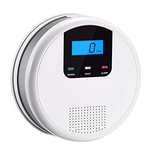 Scondaor CO Melder EN 50291 Zertifiziert, Batterie austauschbar, Kohlenmonoxidmelder mit Digitalanzeige