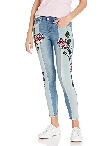 William Rast Women's Perfect Skinny Ankle Jean, Hallows Rose Glass Embroidery, 26