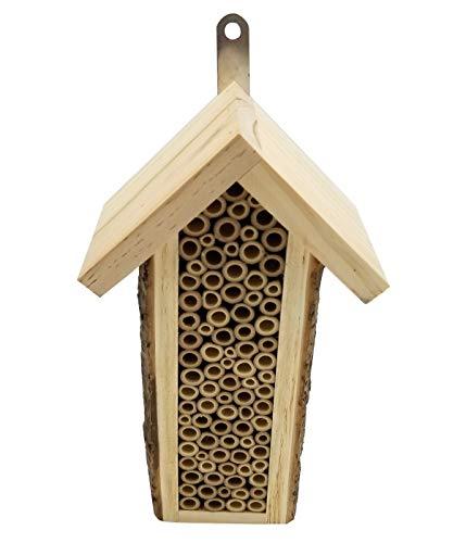 Dehner Natura Insektenhotel Missouri, ca. 27 x 15.5 x 9 cm, Holz/Bambus, natur