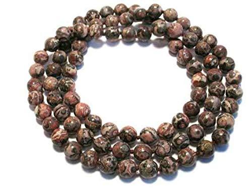 8/80 cadena de bolas, jaspe de leopardo.