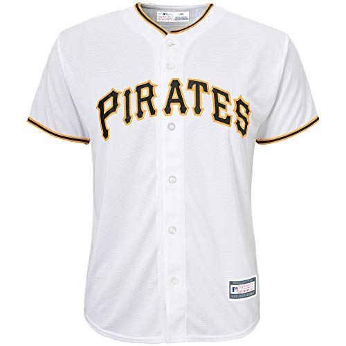 Outerstuff MLB 8-20 Youth Blank Cool Base Home Color Team Jersey (Small 8, Pittsburgh Pirates Home White)
