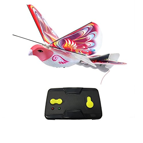 eBird Pink Butterfly - 2016 Creative Child Preferred Choice Award Winning Flying RC Toy - Remote Control Bionic Bird (Newest 2.4GHz Version Featuring USB Charging)