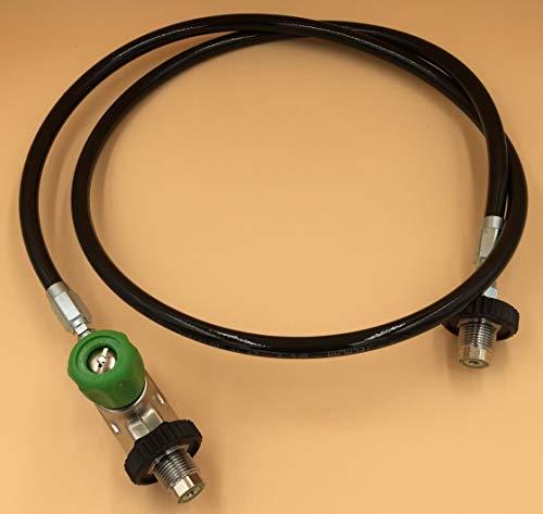 HTD Überstroemschlauch für Sauerstoff mit Endlüftung, bis 315 bar, ohne Manometer
