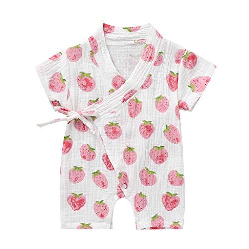 Julhold Kimono de lana para recién nacido, para niños y niñas, mono para dormir