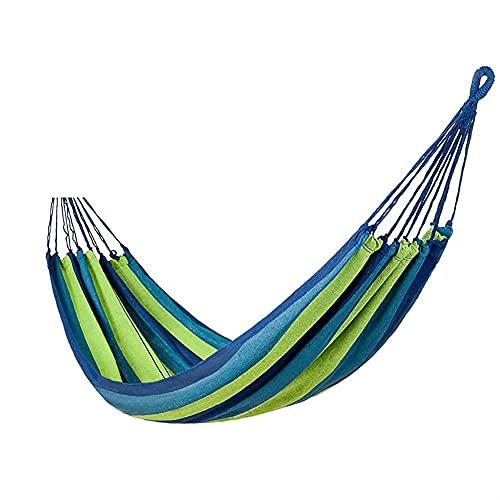 Hamaca Hamaca para Acampar Individual Tela de Lona Hamacas arcoíris para Patio Porche Jardín Patio Trasero Descansar al Aire Libre e Interior Recreación al Aire Libre