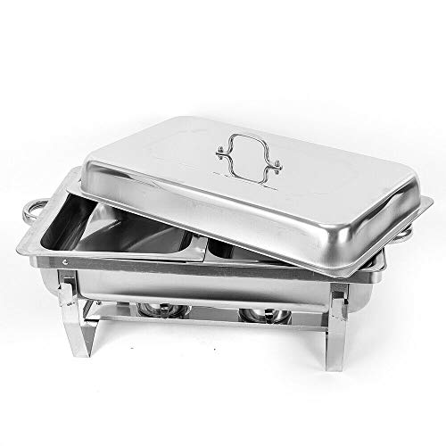 2 contenitori scaldavivande in acciaio inox, 7,5 l, per catering, buffet e feste