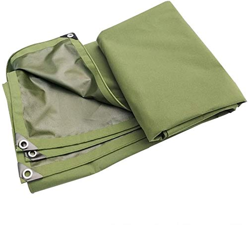 YUEDAI Thicken Rainproof Tarpaulin Tarp Ground Sheet Covers Tent Shelter PVC Coating Heavy Duty Reinforced, Multi Sizes, 680G/M² (Color : Green, Size : 3x5m)