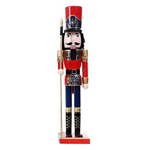 Cascanueces de madera de la Navidad-los 60CM británicos labran a mano los títeres de la Navidad decoración clásica mano pintura muñeca para la oficina de escritorio decoración