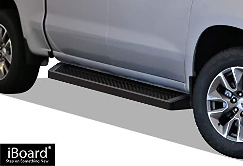 APS iBoard Running Boards (Nerf Bars) Compatible with 2019-2020 Chevy Silverado GMC Sierra 1500 Crew Cab & 2020 Silverado Sierra 2500 3500(Exclude 19 1500 LD) (Black Powder Coated Running Board Style)