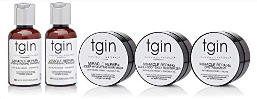 Price comparison product image tgin Miracle RepaiRx Sample Pack For Natural Hair - Dry Hair - Curly Hair - 2 Oz