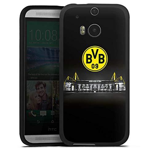 DeinDesign Silikon Hülle kompatibel mit HTC One M8 Hülle schwarz Handyhülle BVB Stadion Borussia Dortm&