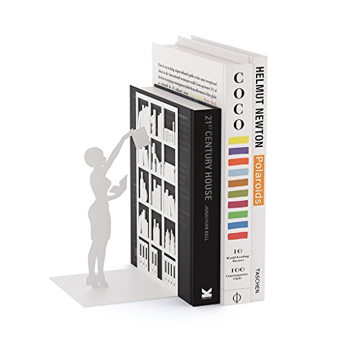 balvi Bücherstütze The Library Farbe weiß Dekorativ Metall