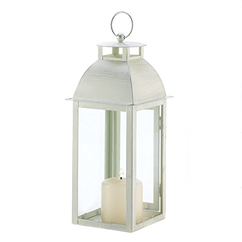Lana45 Lantern Candle Holder Decor Distressed Ivory Candle Lantern Wedding Parties Home Decor