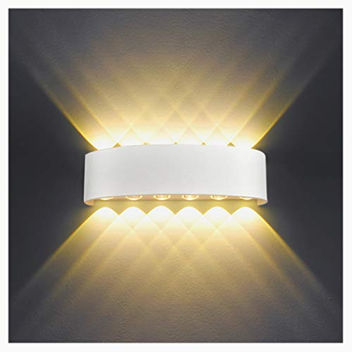 HYDONG Lámpara de pared Interior 12W Blanco LED Apliques de
