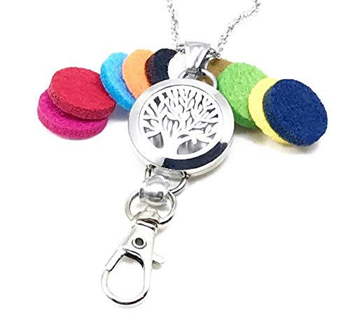 32 Inch Tree of Life Aromatherapy ID Badge Holder Necklace