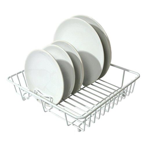 Delfinware Egouttoir Plat en Plastique Blanc (sans Vaisselle)