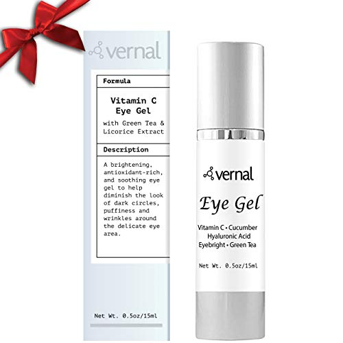 Vernal All in One Eye Treatment – Repair Dark Circles Under Eye & Puffiness – Packed with Collagen, Vitamin C & K | Eye Bags Treatment | Get Brighter,...