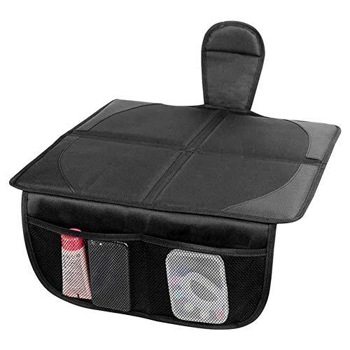 Alfombrilla de protección para asiento de coche Terynbat, asiento de seguridad para niños antideslizante, con bolsa de almacenamiento, adecuado para la mayoría de los modelos