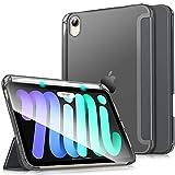 Dadanism Cover Compatibile con iPad Mini 6 8,3', iPad Mini 2021 Cover Supporta Cover Protettiva in Pelle con Protapenna Auto Sveglia/Sonno Copertura Trifold, Grigio Siderale